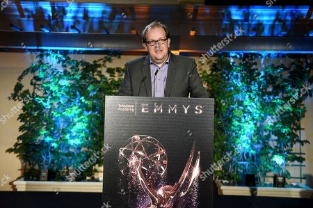 Dominic Burgess speaks at The Television Academy's Casting Directors Nominee Reception at The Montage Beverly Hills, in Beverly Hills, Calif