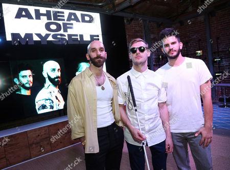 Sam Harris, Casey Harris, Adam Levin. X Ambassadors perform at The Microsoft Lounge, in Venice, Calif