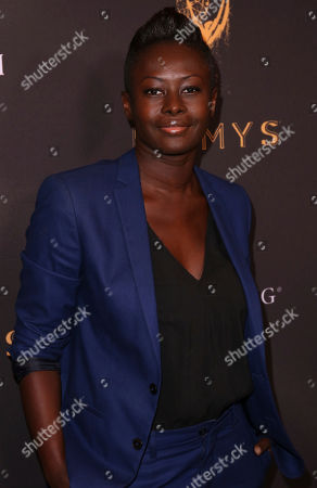 Stock Image of Laurence Basse arrives at the Celebration of the 69th Emmy Award Nominees for Outstanding Casting, in Beverly Hills, Calif