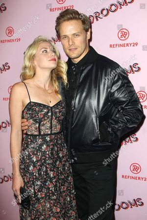 Mackenzie Mauzy and Sam Heughan