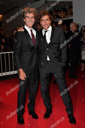 Stock Photo of The director Silvio Soldini with Adriano Giannini