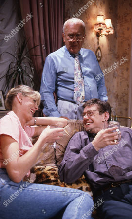 Sarah Lancashire (as Raquel Wolstenhulme), Roy Barraclough (as Alec Gilroy) and Mark Chatterton (as Gordon Blinkhorn)