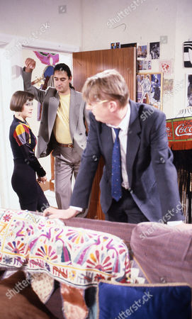 Stock Image of Deborah McAndrew (as Angie Freeman), Cast member and Kevin Kennedy (as Curly Watts)