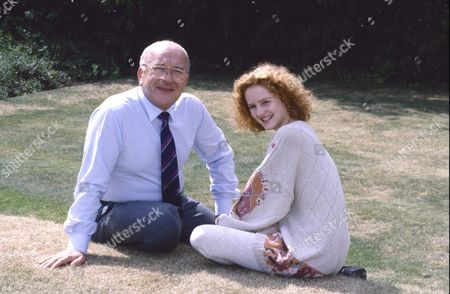 Roy Barraclough (as Alec Gilroy) and Chloe Newsome (as Vicky Arden)