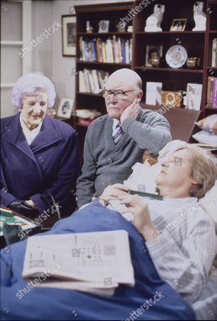 Jill Summers (as Phyllis Pearce), Bill Waddington (as Percy Sugden) and William Roache (as Ken Barlow)
