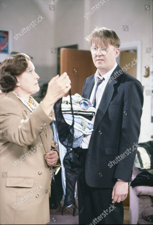 Stock Photo of Marlene Sidaway (as Brenda Taylor) and Kevin Kennedy (as Curly Watts)
