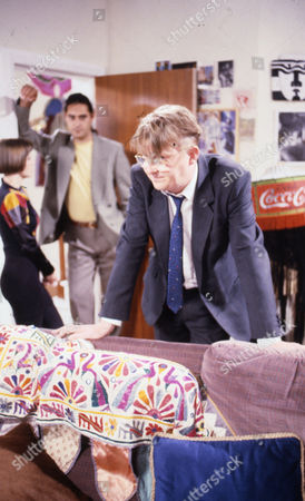 Deborah McAndrew (as Angie Freeman), Cast member and Kevin Kennedy (as Curly Watts)