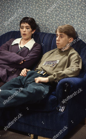 Stock Picture of Judy Brooke (as Paula Maxwell) and Nicholas Cochrane (as Andy McDonald)