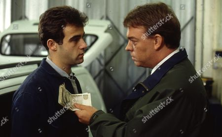 Stock Photo of Michael Le Vell (as Kevin Webster) and William Ilkley (as Jack Halliwell)
