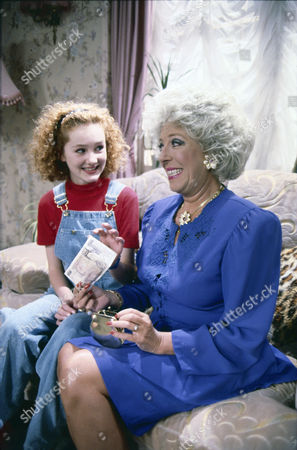 Chloe Newsome (as Vicky Arden) and Julie Goodyear (as Bet Gilroy)