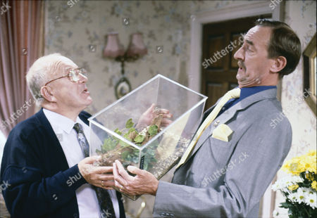 Roy Barraclough (as Alec Gilroy) and Keith Clifford (as Harry Norton)