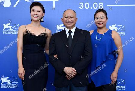 John Woo, Ha Ji-won and Angeles Woo