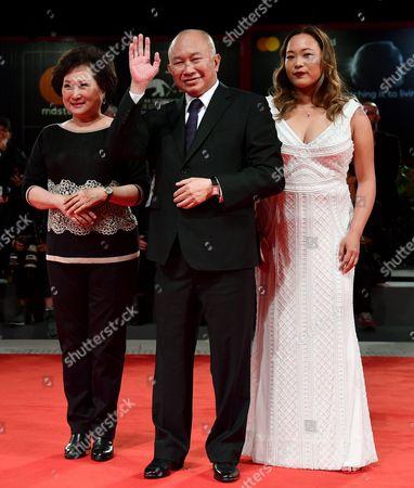 John Woo, Angeles Woo and Annie Woo Ngau Chun-lung