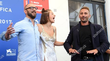 Michael R. Roskam, Adele Exarchopoulos and Matthias Schoenaerts