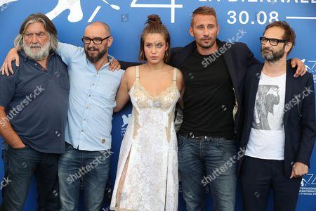 Pierre-Ange Le Pogam, Michael R. Roskam, Adele Exarchopoulos, Matthias Schoenaerts and Bart Van Langendonck