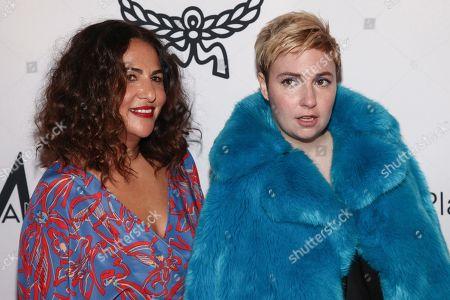Jennifer Konner, Lena Dunham. Jennifer Konner, left, and Lena Dunham attend the NYFW Spring/Summer 2018 fifth annual Fashion Media Awards at the Four Seasons Hotel Downtown, in New York