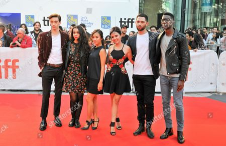 Stock Image of Daniel Doheny, Lina El Arab, Ellen Wong, Daniel Doheny, Lina El Arab, Jessie Buckley, Vinnie Bennett and Mamoudou Athie