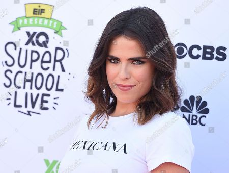 Karla Souza arrives at the EIF Presents: XQ Super School Live on in Santa Monica, Calif