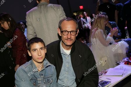 Terry Richardson, right, attends the Jeremy Scott 2018 Spring/Summer Presentation, in New York