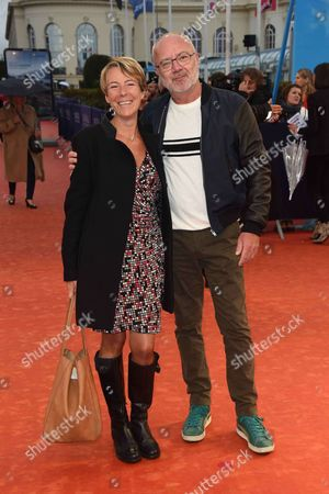 Olivier Baroux and his wife