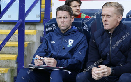 James Beattie Assistant Manager of Middlesbrough during the EFL Sky Bet Championship match between Bolton Wanderers and Middlesbrough at the Macron Stadium, Bolton