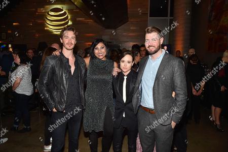 Sam Keeley, Hanny Patel, Ellen Page and David Freyne