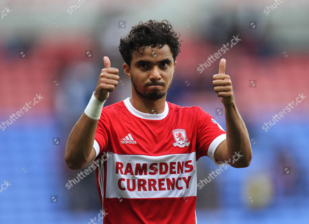 Fabio da Silva of Middlesbrough applauds the fans at the final whistle
