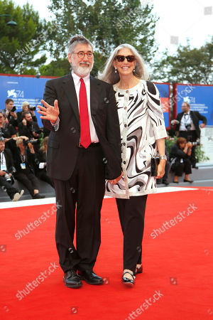 John Landis, Deborah Nadoolman Landis. Director John Landis, left, and Deborah Nadoolman Landis arrive for the awards ceremony of the 74th Venice Film Festival at the Venice Lido, Italy