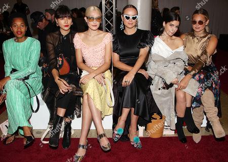Stock Photo of Tamu McPherson, Heidi Nazarudin, Carlotta Cole, Jennifer Grace, Lainy Hedaya, Danielle Bernstein