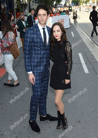 """Mark Leslie Ford, Ksenia Solo. Mark Leslie Ford, left, and Ksenia Solo attend a premiere for """"Suburbicon"""" on day 3 of the Toronto International Film Festival at the Princess of Wales Theatre, in Toronto"""