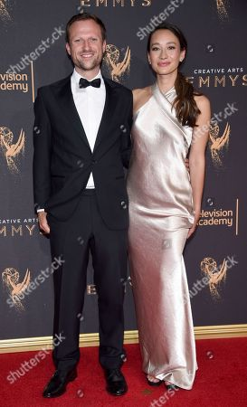 Orlando von Einsiedel, Joanna Natasegara. Orlando von Einsiedel, left, and Joanna Natasegara arrive at night one of the Television Academy's 2017 Creative Arts Emmy Awards at the Microsoft Theater, in Los Angeles