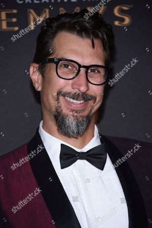 Lucky Yates arrives at night one of the Television Academy's 2017 Creative Arts Emmy Awards at the Microsoft Theater, in Los Angeles