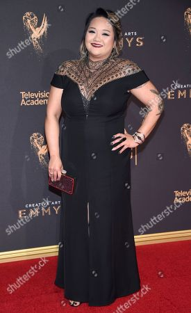 Stock Photo of Monica Soto arrives at night one of the Television Academy's 2017 Creative Arts Emmy Awards at the Microsoft Theater on in Los Angeles