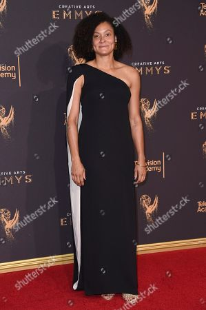 Stock Picture of Kira Kelly arrives at night one of the Creative Arts Emmy Awards at the Microsoft Theater, in Los Angeles