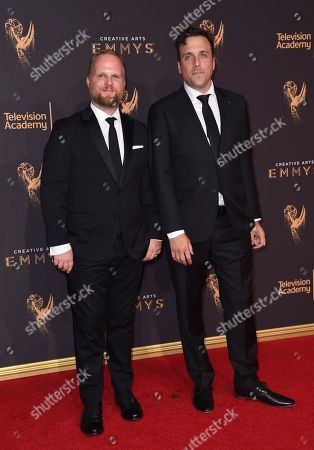 Rod Blackhurst, Brian McGinn. Rod Blackhurst, left, and Brian McGinn arrives at night one of the Creative Arts Emmy Awards at the Microsoft Theater, in Los Angeles