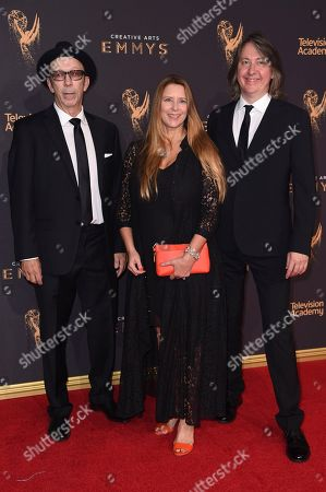 Duke Erikson, Allison McGourty, Bernard MacMahon. Duke Erikson, from left, Allison McGourty and Bernard MacMahon arrive at night one of the Creative Arts Emmy Awards at the Microsoft Theater, in Los Angeles