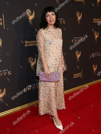 Sarah Barnett attends night one of the Television Academy's 2017 Creative Arts Emmy Awards at the Microsoft Theater, in Los Angeles