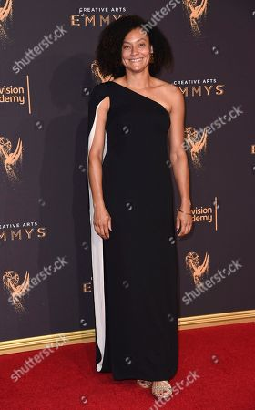 Stock Image of Kira Kelly arrives at night one of the Creative Arts Emmy Awards at the Microsoft Theater, in Los Angeles