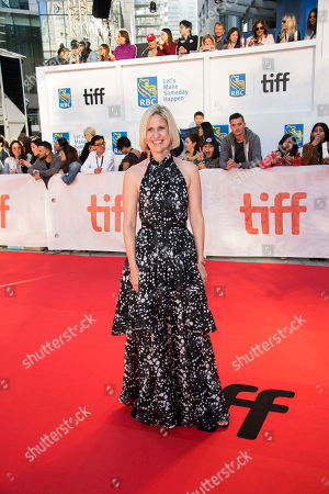 "Stock Image of Emma Jensen attends a premiere for ""Mary Shelley"" on day 3 of the Toronto International Film Festival at Roy Thomson Hall, in Toronto"