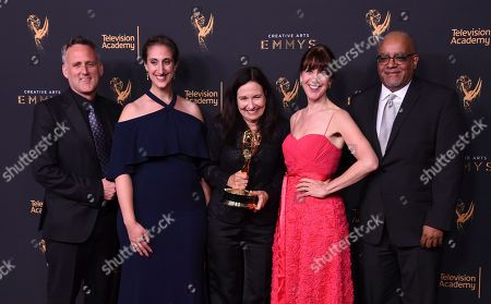 Jim Sommers, Lisa Tawil, Sally Jo Fifer, Lois Vossen, Garry Denny. Jim Sommers, from left, Lisa Tawil, Sally Jo Fifer, Lois Vossen, and Garry Denny pose in the press room with the governors award during night one of the Creative Arts Emmy Awards at the Microsoft Theater, in Los Angeles