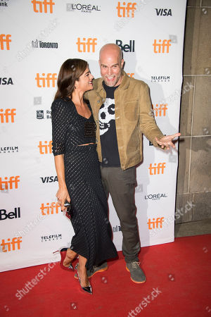 """Selma Blair, Brian Taylor. Actress Selma Blair, left, and director Brian Taylor attend a premiere for """"Mom and Dad"""" on day 3 of the Toronto International Film Festival at the Ryerson Theatre, in Toronto"""