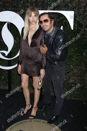 Olivier Zahm (R) and guest (L)