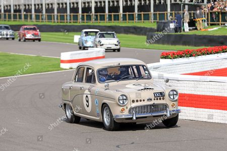 Action during St Mary's Trophy Part 1 Race - Jason Plato 1956 Austin A95 Westminster
