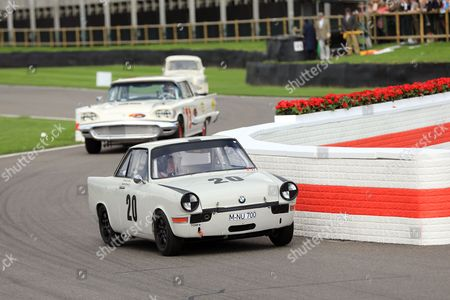 Action during St Mary's Trophy Part 1 Race - Jackie Oliver driving 1959 BMW 700