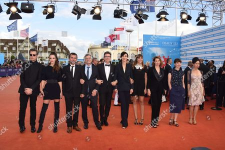 Stock Photo of Members of the jury Eric Lartigau, Benjamin Biolay, Axelle Ropert, Clotilde Hesme, Alice Winocour, Charlotte Le Bon, Michel Hazanavicius, Emmanuelle Devos, Yasmina Reza and Michel Leclerc