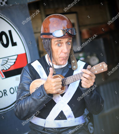 Stock Image of Goodwood Revival, Graeme Hardy, George Formby impersonator