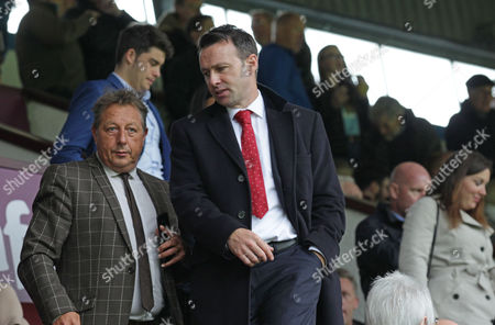 Crystal Palace sporting director Dougie Freedman watches Burnley v Crystal Palace from the stands at Turf Moor Stadium during the Premier League match between Burnley and Crystal Palace on 10th September 2017 at Turf Moor Stadium, Burnley.