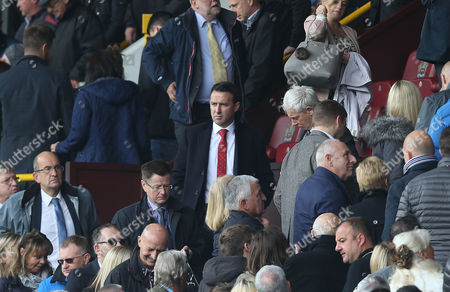 Crystal Palace Sporting Director Of Football, Dougie Freedman watches Burnley v Crystal Palace from the stands at Turf Moor Stadium during the Premier League match between Burnley and Crystal Palace on 10th September 2017 at Turf Moor Stadium, Burnley.