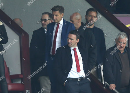 Stock Picture of Crystal Palace Chairman, Steve Parish and Crystal Palace Sporting Director Of Football, Dougie Freedman watches Burnley v Crystal Palace from the stands at Turf Moor Stadium during the Premier League match between Burnley and Crystal Palace on 10th September 2017 at Turf Moor Stadium, Burnley.