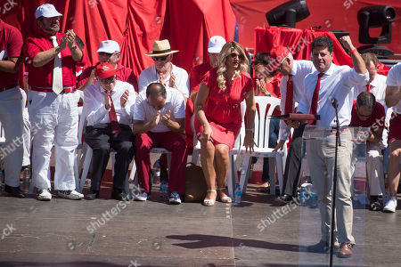 The Prime Minister of Gibraltar, Fabian Picardo, reacts during a speech in the National Day at the British territory of Gibraltar on . The chief minister of Gibraltar says the British territory's post-Brexit future rests on strengthening its ties with the United Kingdom